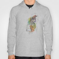 Abstract Portrait Illustration Watercolor Painting  Hoody