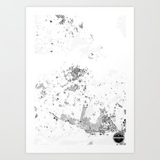 AUCKLAND Art Print
