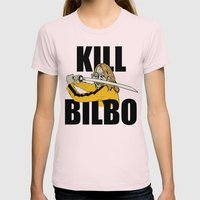 Kill Bilbo Womens Fitted Tee Light Pink SMALL