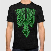 This is Pixel Tap Mens Fitted Tee Tri-Black SMALL