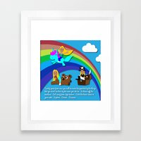 Kelsey Sharkey Congrats Framed Art Print