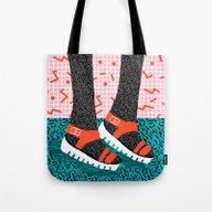 Kicks - Throwback Retro … Tote Bag