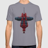 Spiderman Mens Fitted Tee Slate SMALL