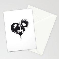 Skull Kiss Stationery Cards