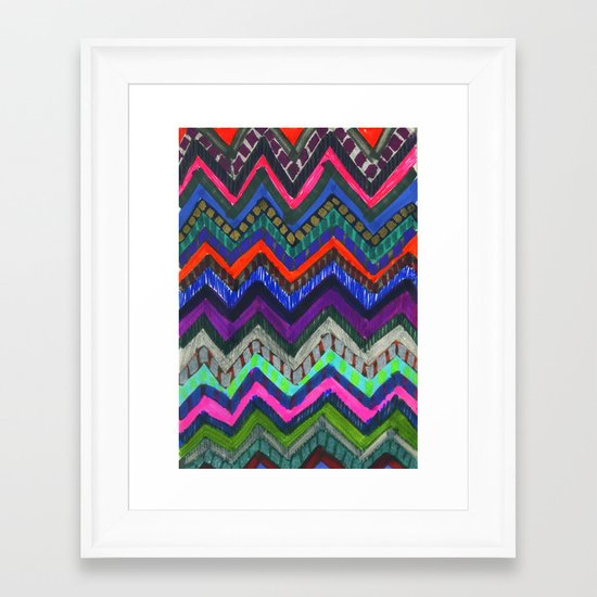 PATTERN {Chevron 001} Framed Art Print