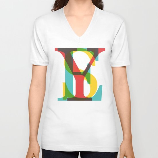 YES V-neck T-shirt