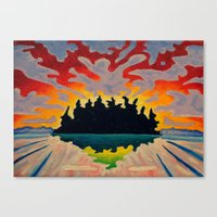 Totem Island Canvas Print