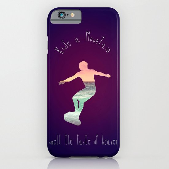 RIDE A MOUNTAIN iPhone & iPod Case
