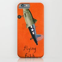 iPhone & iPod Case featuring flying fish by crayon dreamer