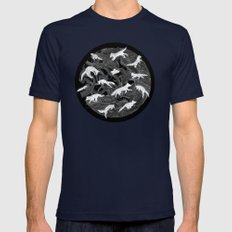 GHOSTS  Mens Fitted Tee Navy SMALL