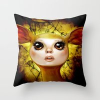 The Golden Hind Throw Pillow