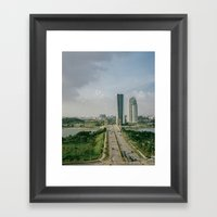 Two Roads That Didn't Di… Framed Art Print