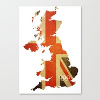 Union Jack Map - Olympic… Canvas Print