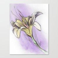 Flower Study 2 On Violet… Canvas Print