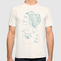 MG Mens Fitted Tee Natural SMALL