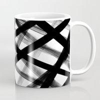 Criss Cross Black And Wh… Mug