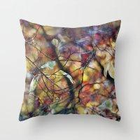 Autumn Rainbows Throw Pillow