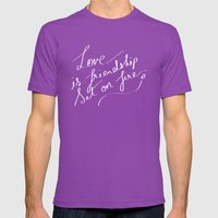 LOVE & FIRE Mens Fitted Tee Ultraviolet SMALL