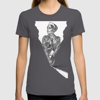 Queen Of Carbon II Womens Fitted Tee Asphalt SMALL