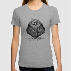 Owl Ball Womens Fitted Tee Athletic Grey MEDIUM
