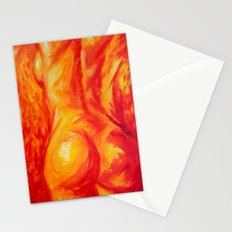Abstract body Stationery Cards