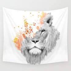 If I roar (The King Lion) Wall Tapestry