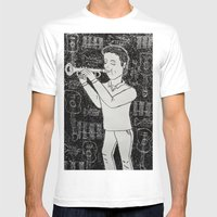Música Mens Fitted Tee White SMALL