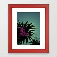 EXOTIC PARADISE Framed Art Print