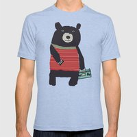 Boomer Bear Mens Fitted Tee Tri-Blue SMALL