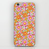Summer Daisies Tiled Pattern iPhone & iPod Skin