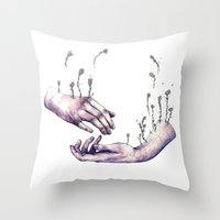 I hope one day you find someone who makes flowers grow in even the saddest parts of you Throw Pillow