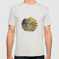 Trees Mens Fitted Tee Silver SMALL