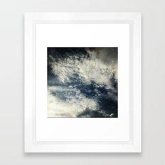 Up in the sky. Framed Art Print