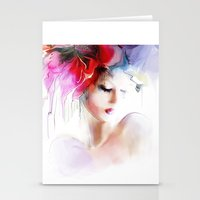 Woman Spring Stationery Cards