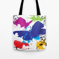 Painted Butterflies Tote Bag