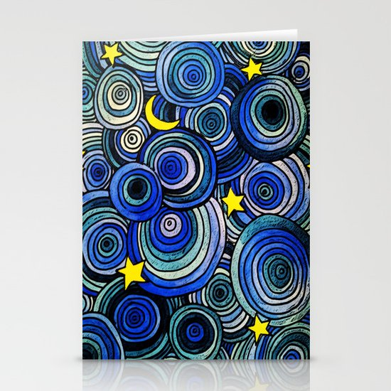 Watery Night Stationery Card