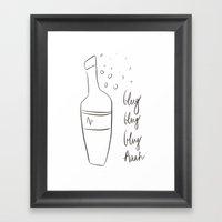 Glug Glug Glug Aah ! Framed Art Print
