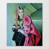 THE JPG GIRL Canvas Print
