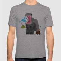 Hippopotamouth Mens Fitted Tee Athletic Grey SMALL