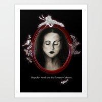 Flowers of silence Art Print