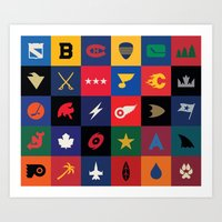 Minimalist Hockey Art Print