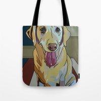 Latte Dog  Tote Bag