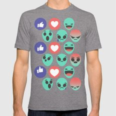 Alien Reactions Mens Fitted Tee Tri-Grey SMALL