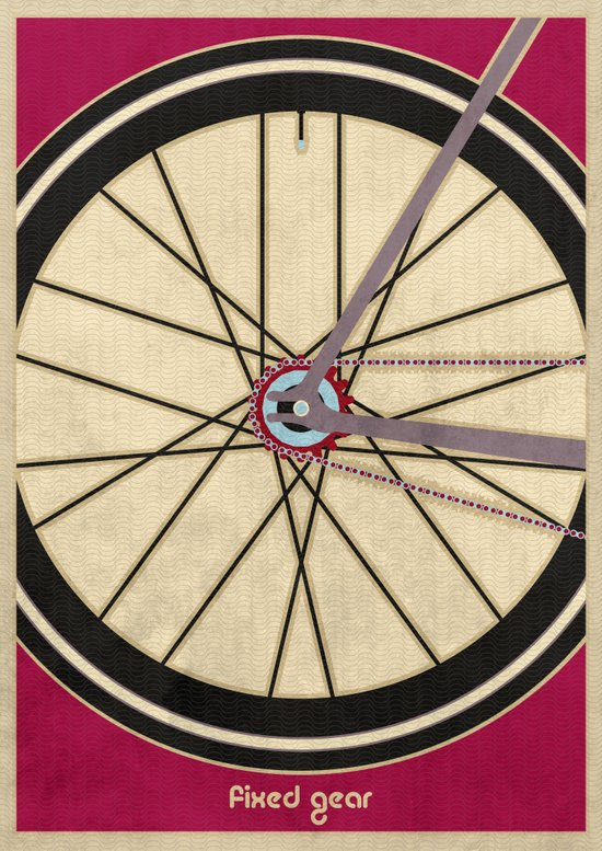 Single Speed Bicycle Art Print