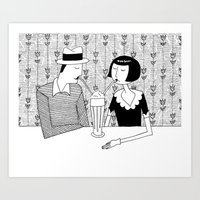 They Shared A Chocolate … Art Print
