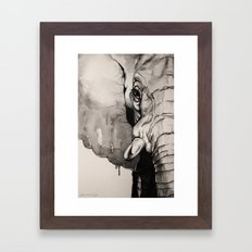 Watercolour Elephant Framed Art Print