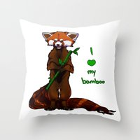 I Love My Bamboo (tablet… Throw Pillow