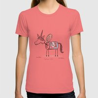 'Hot Dogs' the unican Womens Fitted Tee Pomegranate SMALL