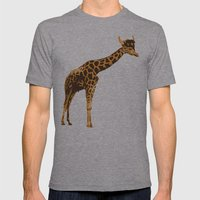 Giraffe Viking Mens Fitted Tee Athletic Grey SMALL