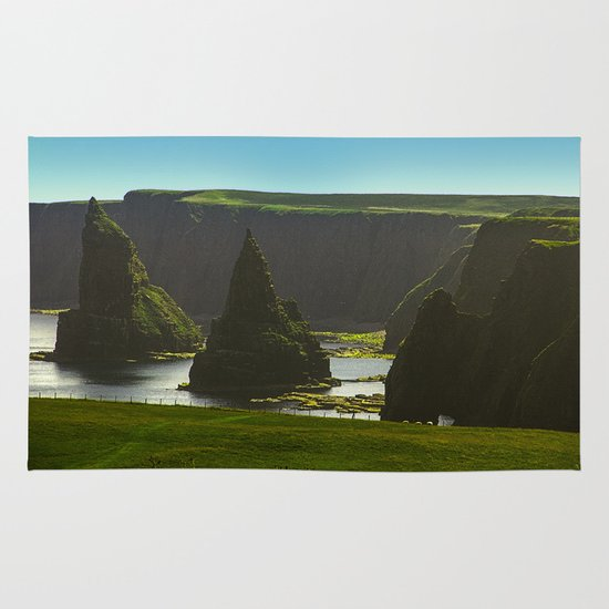 Sea Stacks at Duncansby Head Area & Throw Rug
